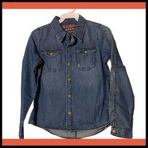 NWT BLANKNYC GIRLS'S Sz 10 Cotten snap Denim Shirt